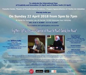 Eng Invitation 22 April Drawing a World of Peace